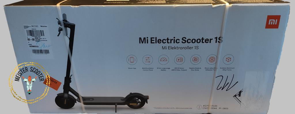 Xiaomi E-Scooter 1S - die Verpackung